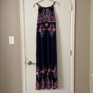 Chic Boho Embellishes Maxi Dress
